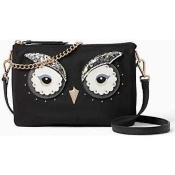 730e679c7ca7 Kate Spade Star Bright Owl Madelyne Crossbody NWT